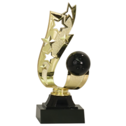 Offset Ribbon Bowling Trophy