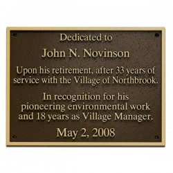 Outdoor Z-Bronze Plaque - Raise Letters