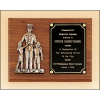 Police award with antique bronze finish casting.