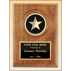 Star CAM solid walnut plaque