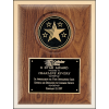 Solid American walnut plaque with choice of CAM or 5-star cast medallion.