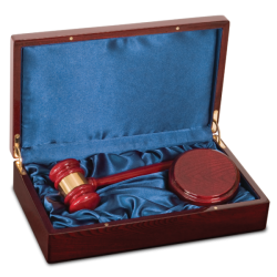 ROSEWOOD PIANO FINISH GAVEL DIRECTOR'S SET