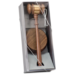 WALNUT GAVEL DIRECTOR'S SET
