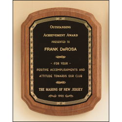 American walnut plaque available in 5 sizes