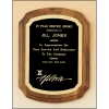 American walnut plaque with new border design