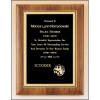 Solid American walnut plaque with engraving plate with florentine border and black textured center.
