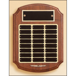 Solid American walnut Ornate perpetual plaque