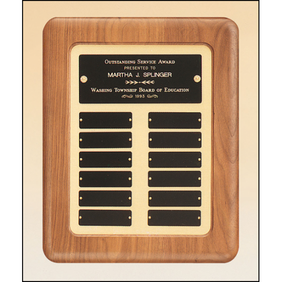 Solid American walnut Airflyte frame perpetual plaque