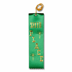 STRB11C - 6th Place Stock Carded Ribbon