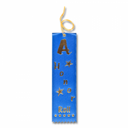 STRB11C - A-Honor Roll Stock Carded Ribbon