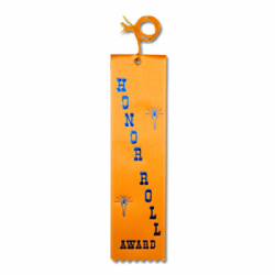 STRB11C - Honor Roll Award Stock Carded Ribbon