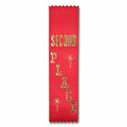 STRB11L - 2nd Place Stock Lapel Ribbon